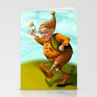 gnome Stationery Cards featuring Gnome by Olga Shefranov