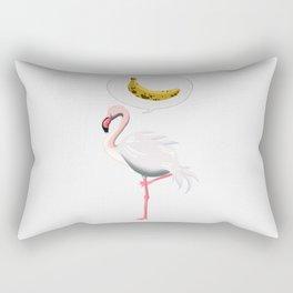 flamingo and banana Rectangular Pillow
