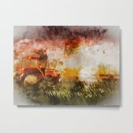 Into the Fields Metal Print