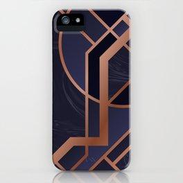 Violet Art Deco iPhone Case