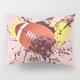 Grunge Rugby ball Pillow Sham