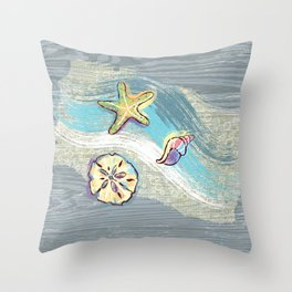 Starfish Beach-Comber Throw Pillow