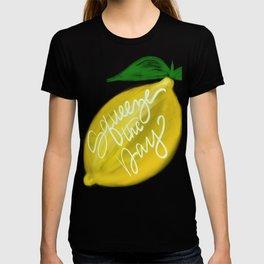 Squeeze the day lemon art T-shirt