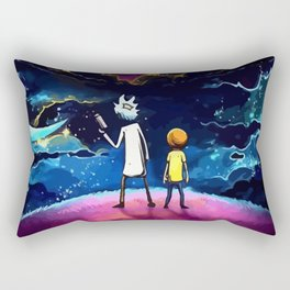 The dark side of Morty and Rick Rectangular Pillow