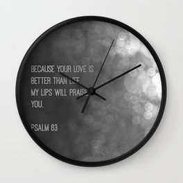 Psalm 63 Wall Clock