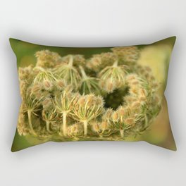 Queen Anne's Lace Flower About to Bloom Rectangular Pillow