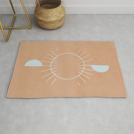 Abstraction of the sun rise, minimalistic art Rug