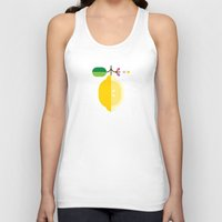 fruit Tank Tops featuring Fruit: Lemon by Christopher Dina