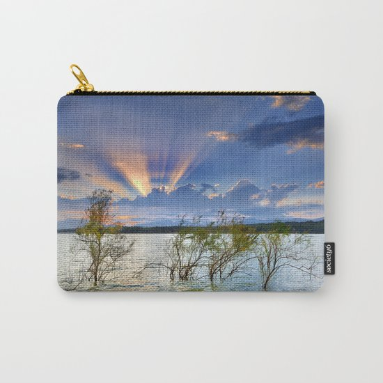 """""""Sunrays at the lake at sunset"""" Carry-All Pouch"""