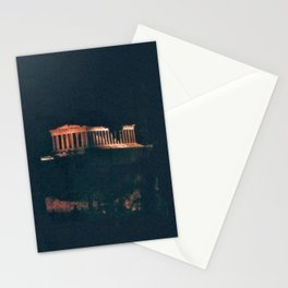 Parthenon at Night Stationery Cards