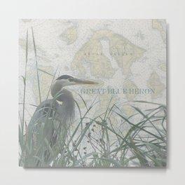 Orcas Island Heron Metal Print