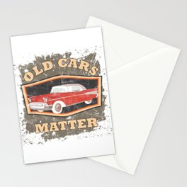 Old Cars Matter Classic Vintage Auto Racers Car Lovers Gift Stationery Cards