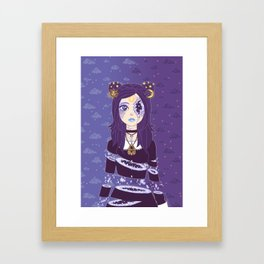 Celestial Witch Framed Art Print