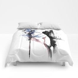 Shibari - Japanese BDSM Art Painting #4 Comforters