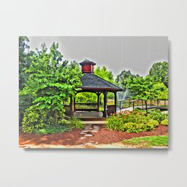 City Park - Photo converted to painting Metal Print
