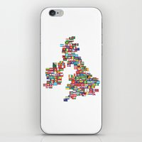 uk iPhone & iPod Skins featuring UK by John Choi King