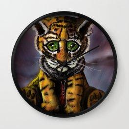 Sad Baby Tiger Wall Clock