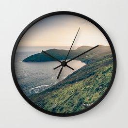 Keem Bay Sunset - nature photography Wall Clock
