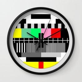 Retro color tv test screen Wall Clock