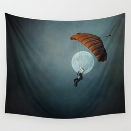 Skydiver's Moon Wall Tapestry