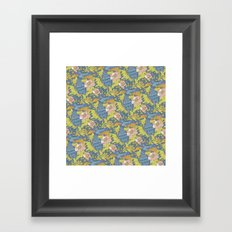 Peacock pattern Framed Art Print