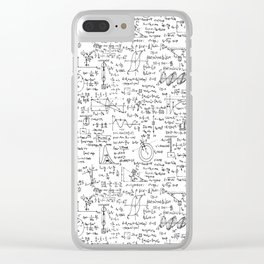 Physics Equations on Whiteboard Clear iPhone Case