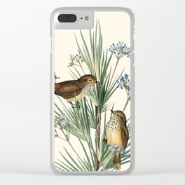 Little Birds and Flowers III Clear iPhone Case