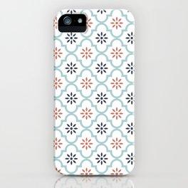 Red & Blue Mute Lattice iPhone Case