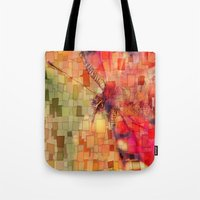 butterfly Tote Bags featuring Butterfly   by Aloke Design