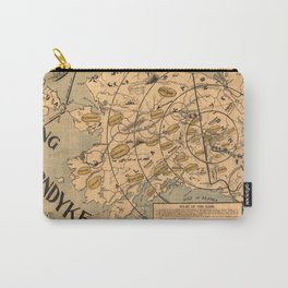 Vintage Alaska Board Game Map (1897) Carry-All Pouch