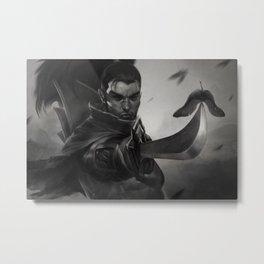 Yasuo Promo League of Legends Artwork Wallpaper lol Metal Print
