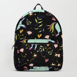 Magical Unicorns Pattern Flower Gift for Girls Backpack