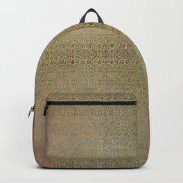 Gold and Silver Leaf Bridget Riley Inspired Pattern Backpack