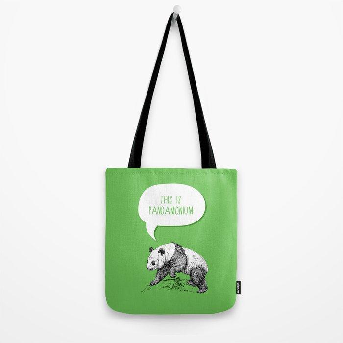 Panda Pun Tote Bag