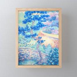 Blue Pine Framed Mini Art Print