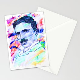 Nikola Goddamn Tesla  Stationery Cards