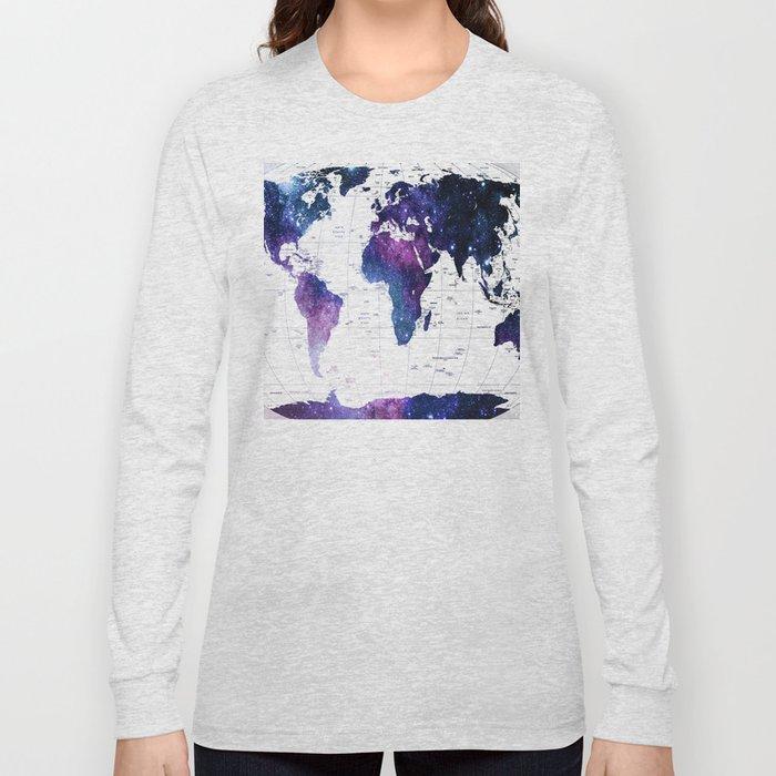 ALLOVER THE WORLD-Galaxy map Long Sleeve T-shirt
