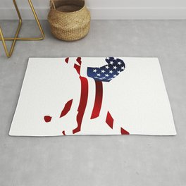 Independence Day USA Funny Dog Gifts Rug