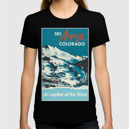 Vintage Ski Aspen Poster T-shirt
