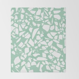 Terrazzo Mint Throw Blanket