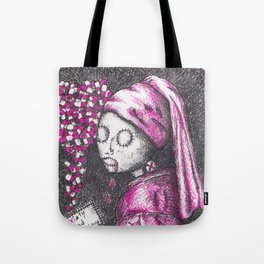 Girl with a pearl earring in 2016 - Anxiety and Gretel Tote Bag