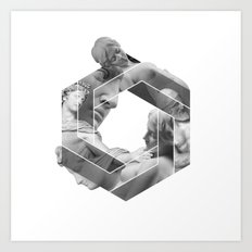 Love optical illusion Art Print