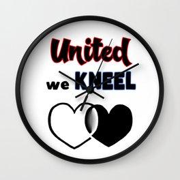 United We Kneel Wall Clock