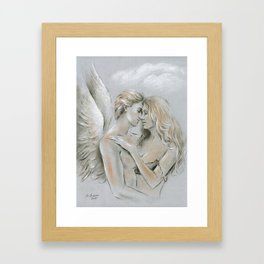 Angel on Earth Framed Art Print