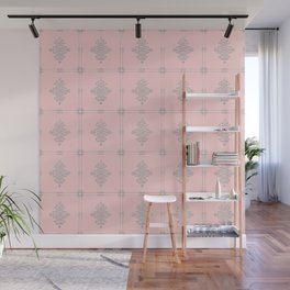 Encore Deco (pink-silver) Wall Mural