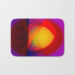 Abstract pattern in colors Bath Mat