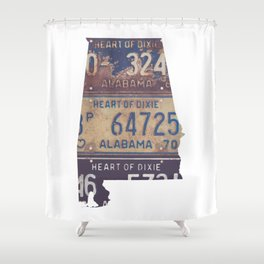 Vintage Alabama Shower Curtain