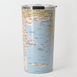 Map of Greece (1984) Travel Mug