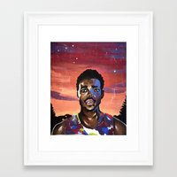 chance the rapper Framed Art Prints featuring Chance the Rapper by Mackenzie Mauro