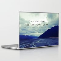 maori Laptop & iPad Skins featuring I am the River and the River is Me - Maori Wisdom - the world view by Tiki Kiwi